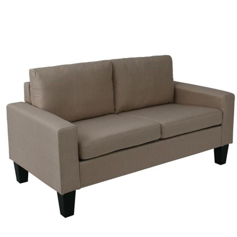 """Καναπές """"SERGIO"""" διθέσιος υφασμάτινος σε χρώμα μπεζ 145x74x79"""