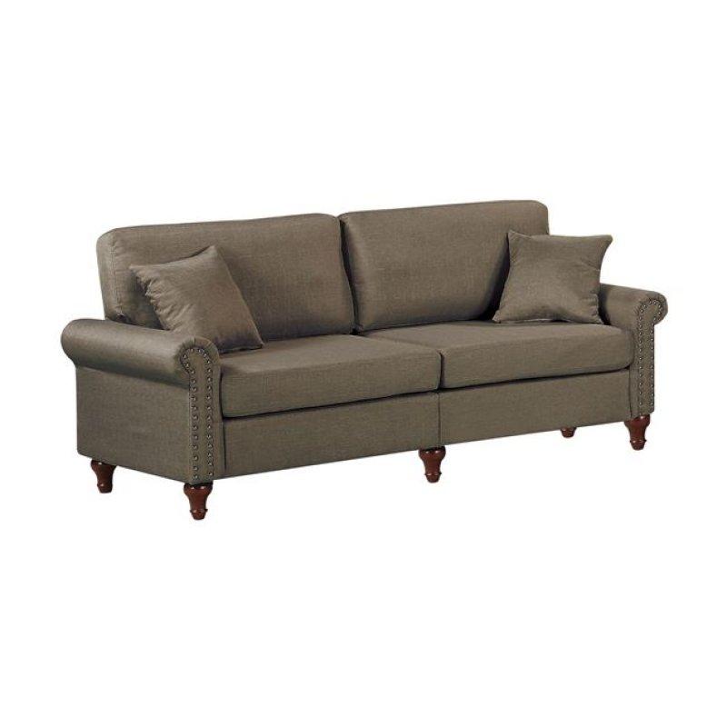 """Καναπές """"LORENO"""" τριθέσιος υφασμάτινος σε χρώμα καφέ 198x76x84"""