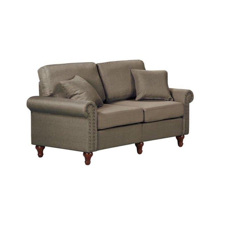 """Καναπές """"LORENO"""" διθέσιος υφασμάτινος σε χρώμα καφέ 154x76x84"""