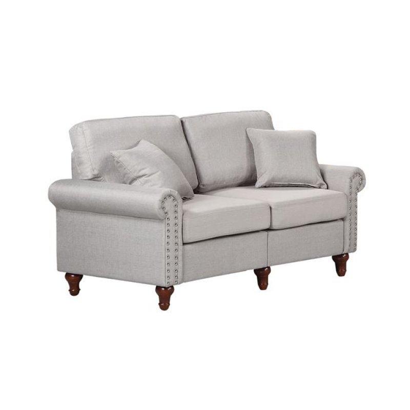 """Καναπές """"LORENO"""" διθέσιος υφασμάτινος σε χρώμα γκρι 154x76x84"""