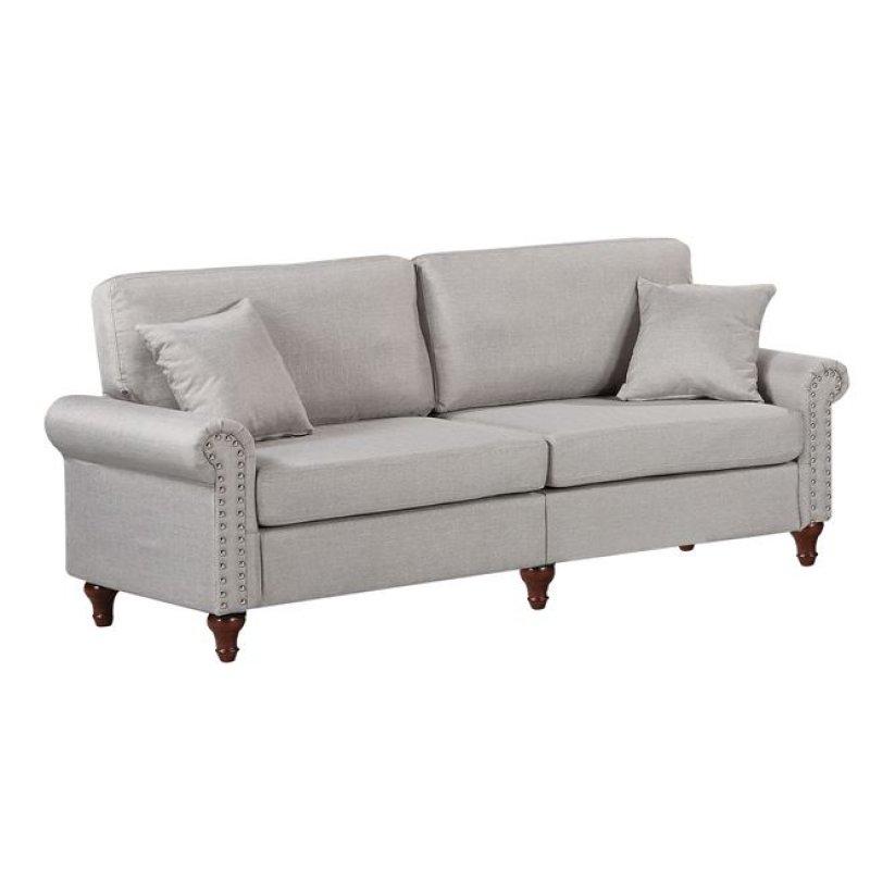 """Καναπές """"LORENO"""" τριθέσιος υφασμάτινος σε χρώμα γκρι 198x76x84"""