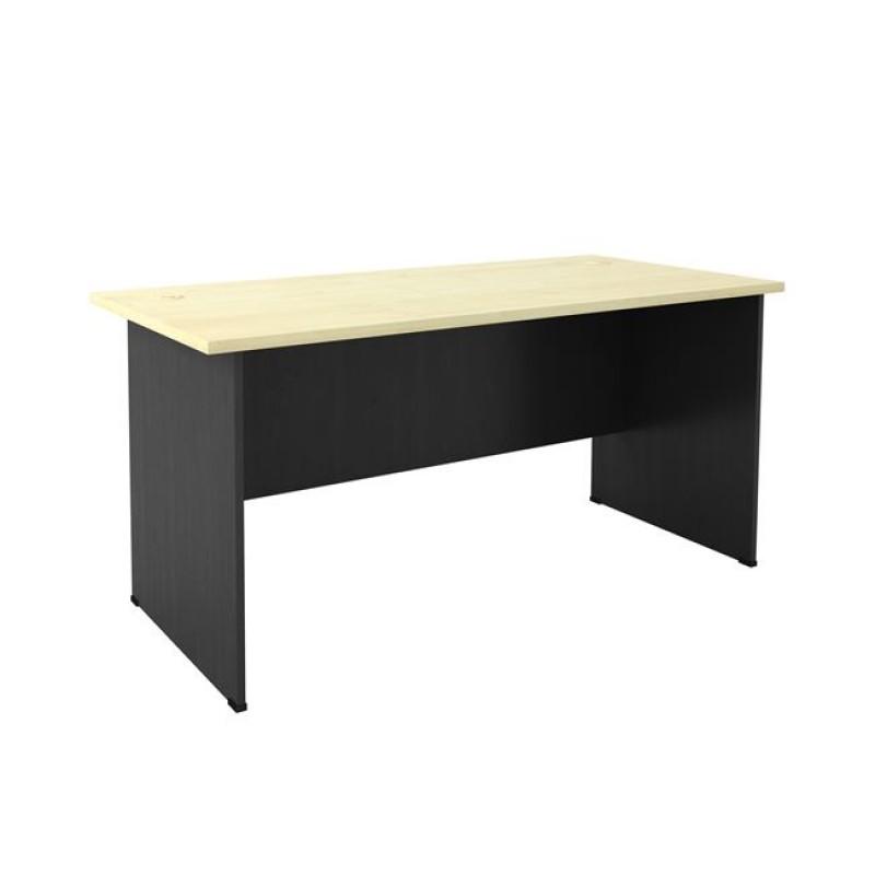 Γραφείο σε σκούρο γκρι-φυσικό/οξυά χρώμα 180x70x74