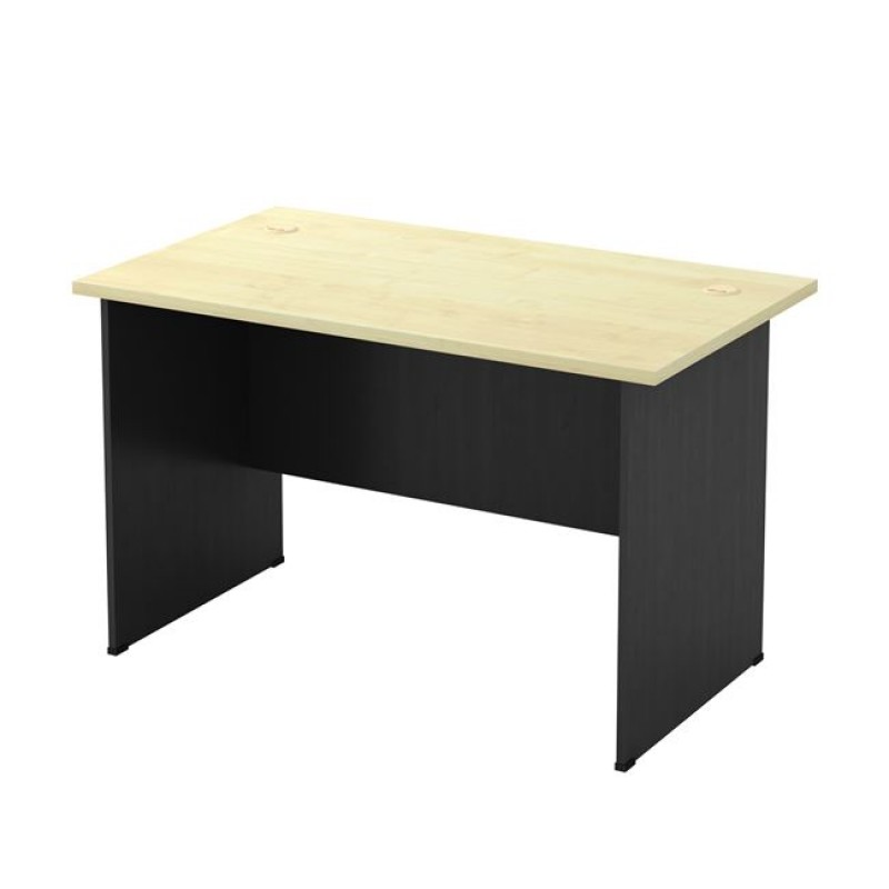 Γραφείο σε σκούρο γκρι-φυσικό/οξυά χρώμα 120x70x74