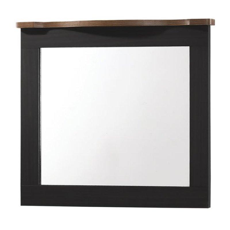 """Καθρέπτης """"SCARLET"""" σε χρώμα μαύρο-καρυδί 94x80"""