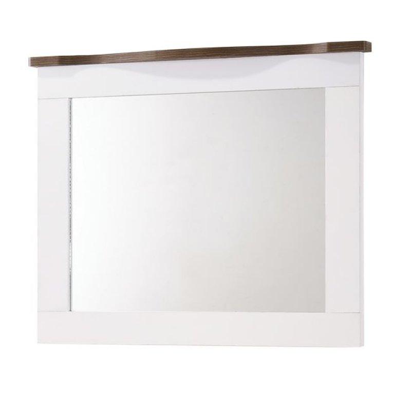 """Καθρέπτης """"SCARLET"""" σε χρώμα λευκό-καρυδί 94x80"""