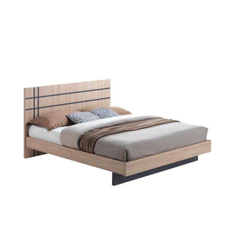 """Κρεβάτι """"SUITE"""" διπλό σε χρώμα σονόμα 162x209x100"""