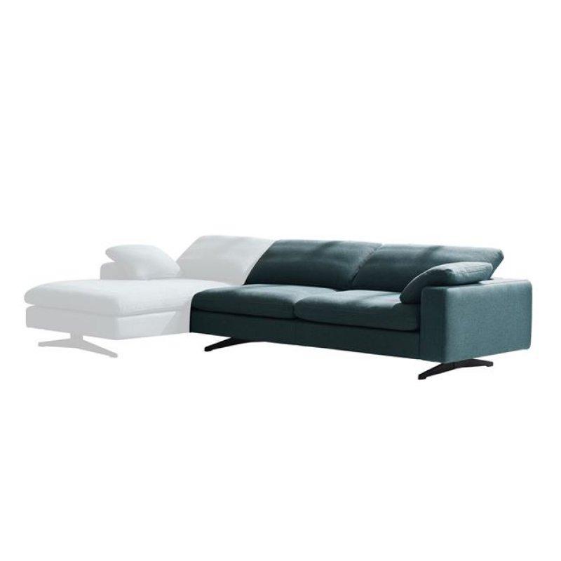 """Καναπές """"MAJESTIC"""" δεξί μπράτσο υφασμάτινος σε χρώμα γκρι 221x105x76"""