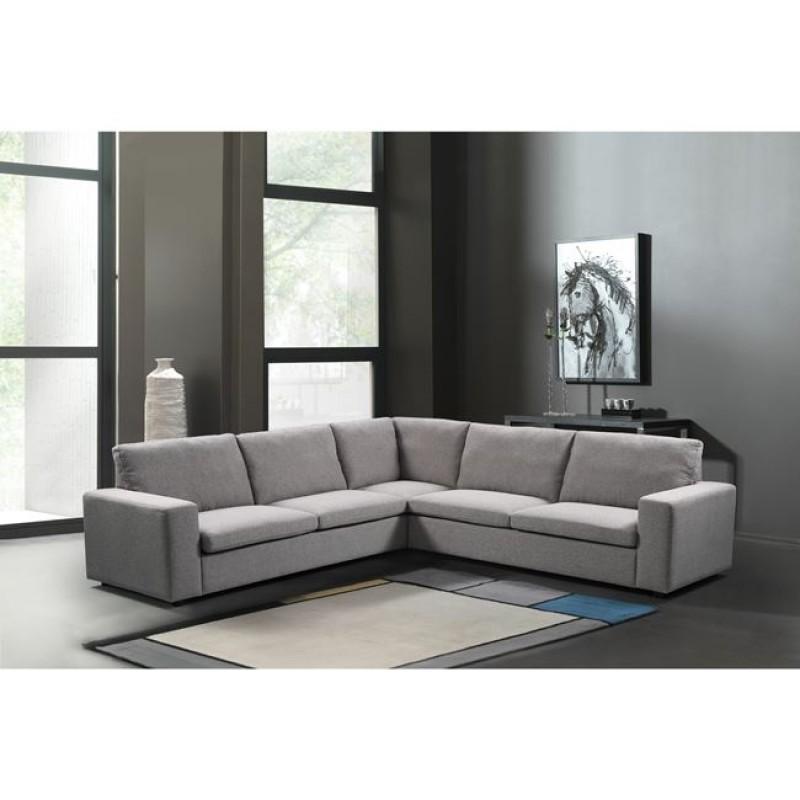 """Καναπές """"PACIFIC"""" πολυμορφικός υφασμάτινος σε γκρι χρώμα 260x260x82/85"""