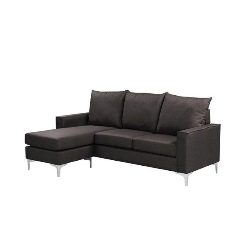 """Καναπές """"AVANT"""" αναστρέψιμος υφασμάτινος σε καφέ χρώμα 192x127x72/83"""