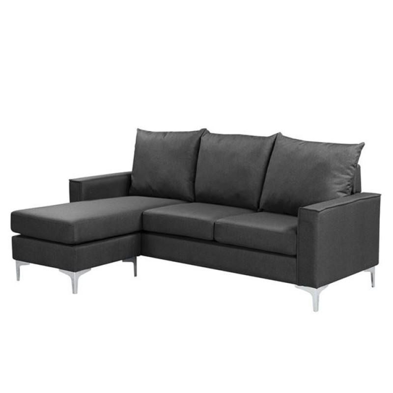 """Καναπές """"AVANT"""" αναστρέψιμος υφασμάτινος σε γκρι χρώμα 192x127x72/83"""