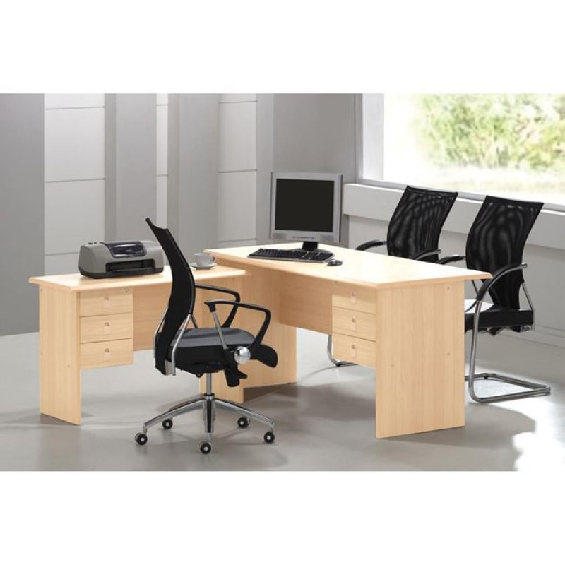 """Γραφείο """"SIGNAL"""" γωνία σε χρώμα σονόμα 160x115x75"""