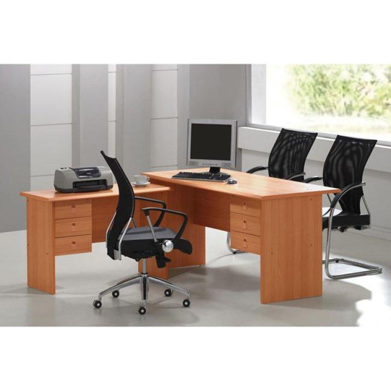 """Γραφείο γωνία """"SIGNAL"""" σε χρώμα κερασί 160x115x75"""