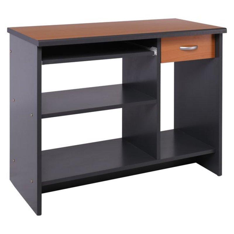 """Γραφείο υπολογιστή """"PROGRAM"""" σε σκούρο γκρι-κερασί χρώμα 90x45x75"""