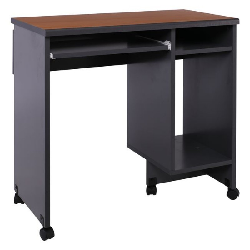 """Γραφείο υπολογιστή """"PROGRAM"""" σε σκούρο γκρι-κερασί χρώμα 80x45x81"""