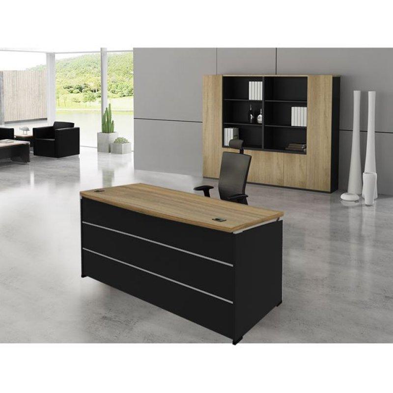"""Γραφείο επαγγελματικό """"PROJECT"""" σε χρώμα σονόμα-γκρι 200x90x75"""