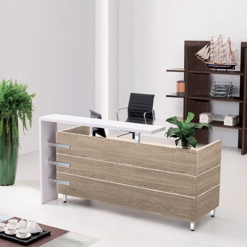 """Γραφείο reception """"PROJECT"""" σε χρώμα σονόμα-λευκό 180x75x110"""