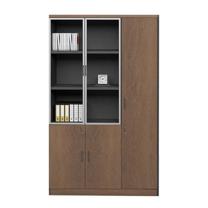 """Ντουλάπα βιβλιοθήκη δεξιά """"PROLINE"""" σε χρώμα καρυδί/μαύρο 120x40x200"""