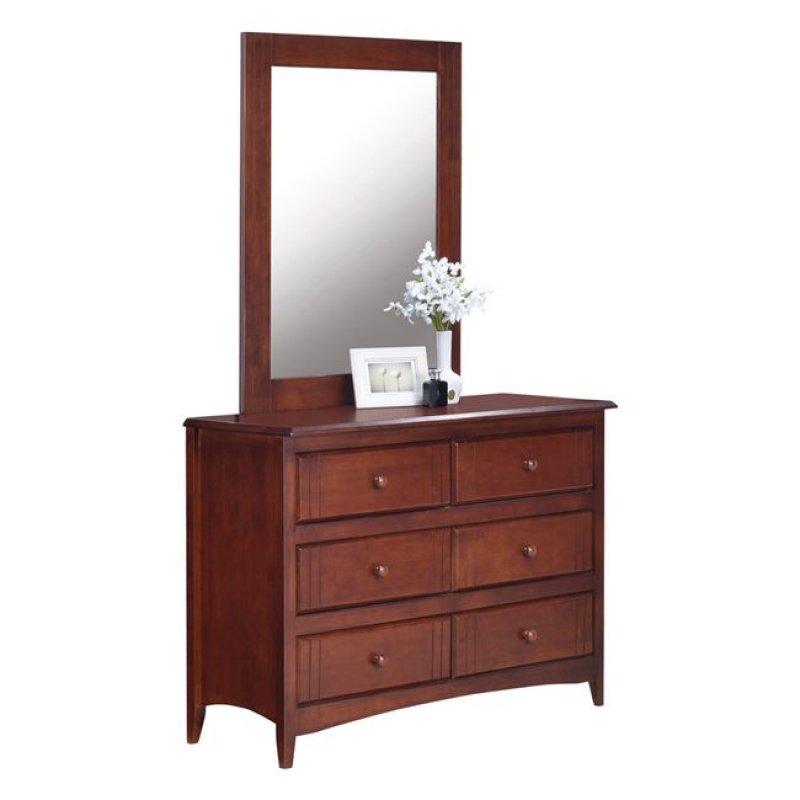 """Τουαλέτα με καθρέπτη """"TOTAL"""" ξύλινη σε σκούρο καρυδί χρώμα 45x110 x178"""