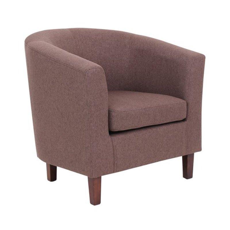 """Πολυθρόνα υφασμάτινη """"BOGA"""" σε χρώμα καφέ 75x73x69"""