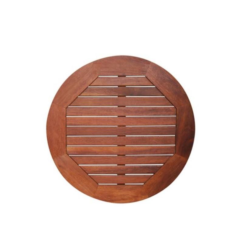 """Επιφάνεια τραπεζιού """"BANNER"""" από ξύλο Acacia σε χρώμα σκούρο καρυδί Φ60"""