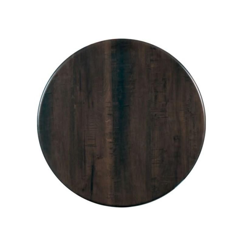 """Επιφάνεια τραπεζιού """"SMART TOP"""" από μελαμίνη σε χρώμα Walnut Φ60"""