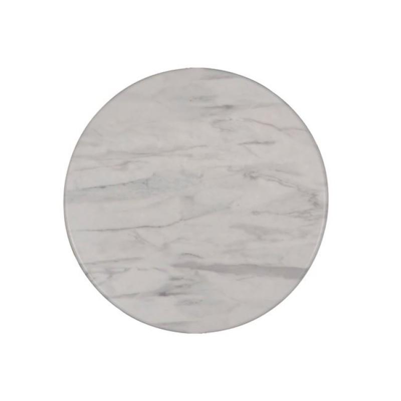 """Επιφάνεια τραπεζιού """"SMART TOP"""" από μελαμίνη σε χρώμα Marble Φ60"""