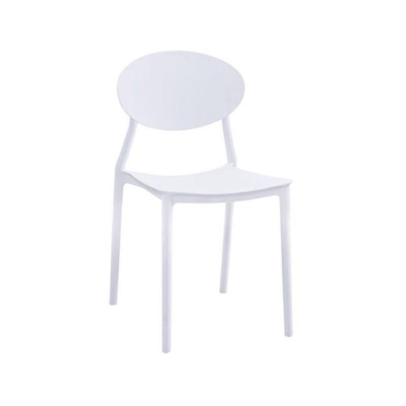 """Καρέκλα """"NIVA"""" pp σε χρώμα λευκό 41x51x81"""