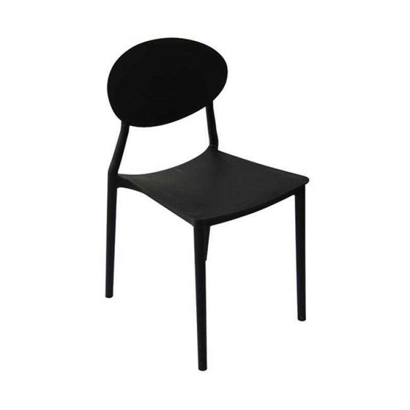 """Καρέκλα """"NIVA"""" pp σε χρώμα μαύρο 41x51x81"""