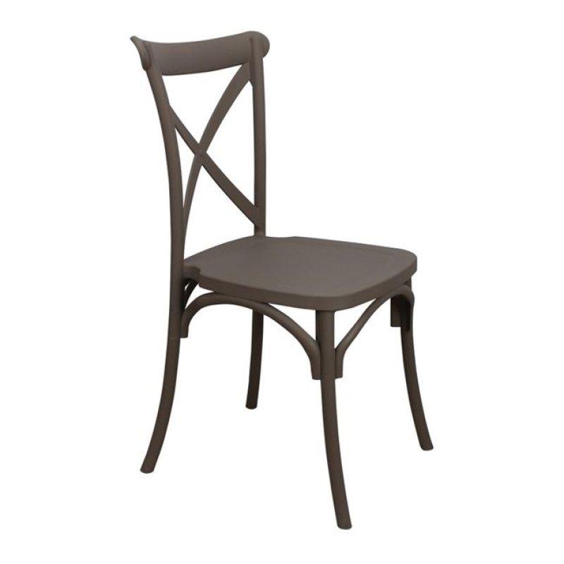 """Καρέκλα """"DESTINY"""" pp σε χρώμα καφέ 48x55x91"""