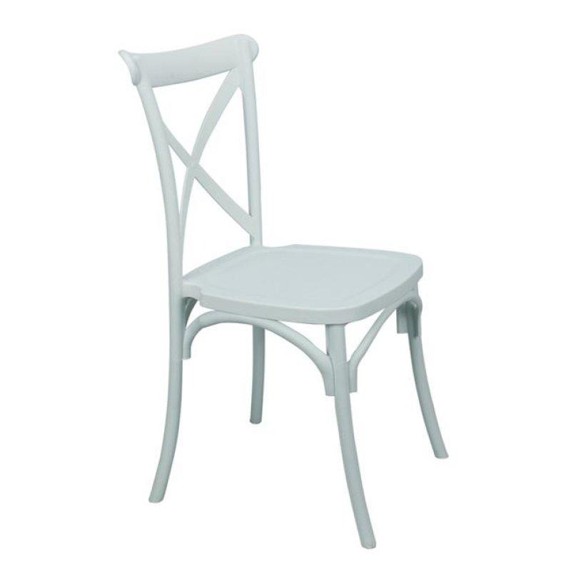 """Καρέκλα """"DESTINY"""" πολυπροπυλενίου σε χρώμα λευκό 48x55x91"""