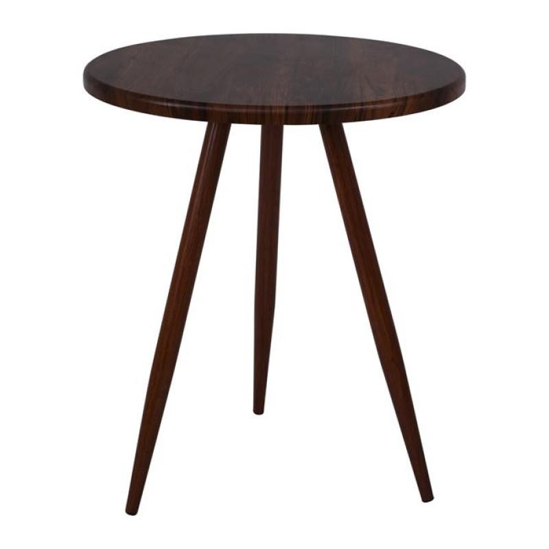 """Τραπέζι """"NATURALE"""" ξύλινο σε χρώμα καρυδί Φ60"""