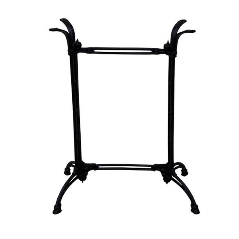 Βάση μαντεμένια μπαρ μεταλλική σε μαύρο χρώμα 84x50x107