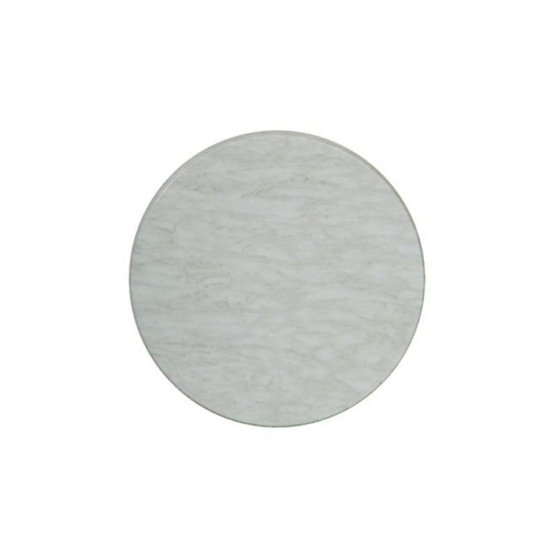 """Επιφάνεια τραπεζιού """"ISO TOP"""" σε χρώμα λευκό μάρμαρο Φ60"""