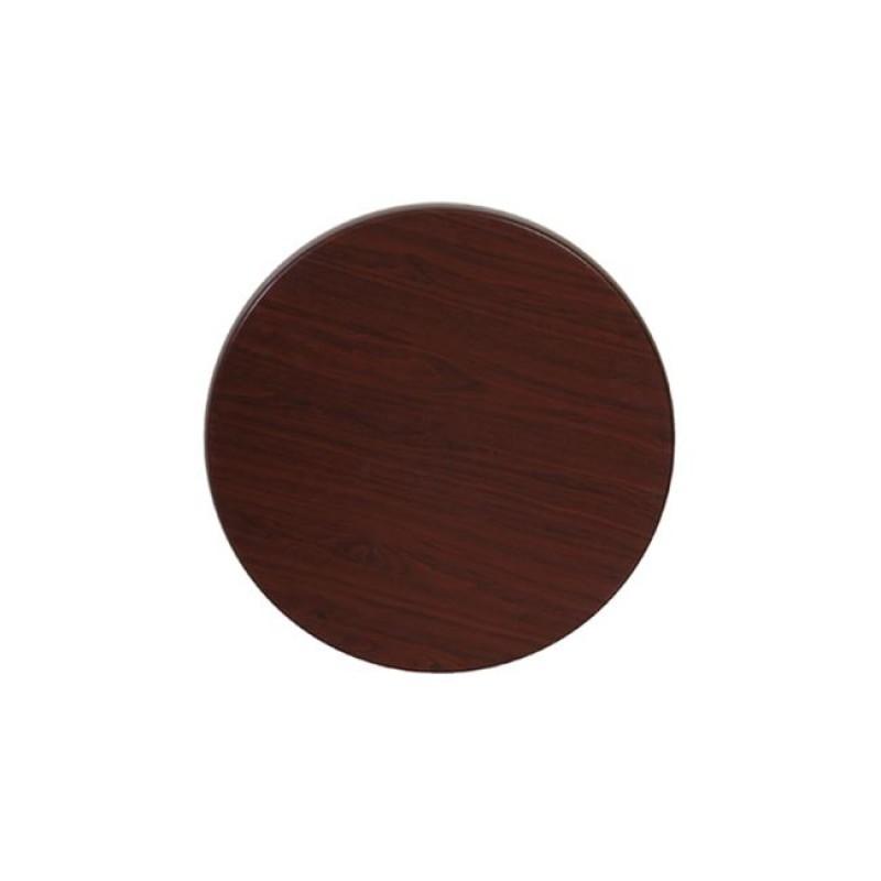"""Επιφάνεια τραπεζιού """"ISO TOP"""" σε χρώμα σκούρο καρυδί Φ60"""
