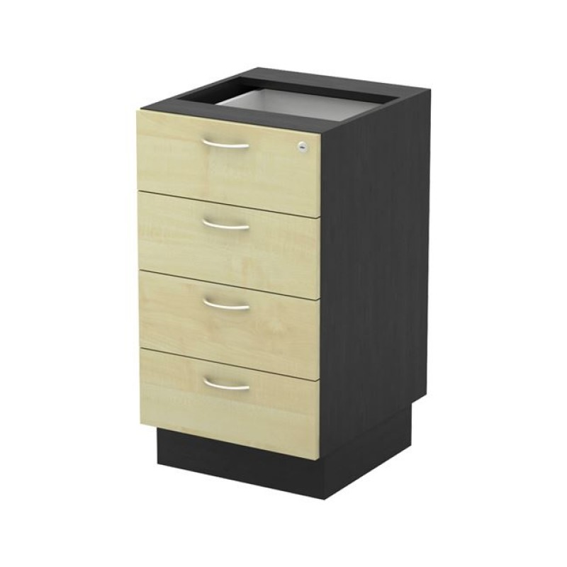 """Συρταριέρα-επέκτασης """"EXECUTIVE"""" χρώματος σκούρο γκρί-beech 40x45x73cm"""