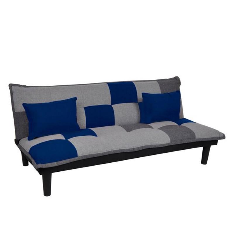 """Καναπές-κρεβάτι """"FENDER"""" διθέσιος από ύφασμα patchwork 168x76x70"""