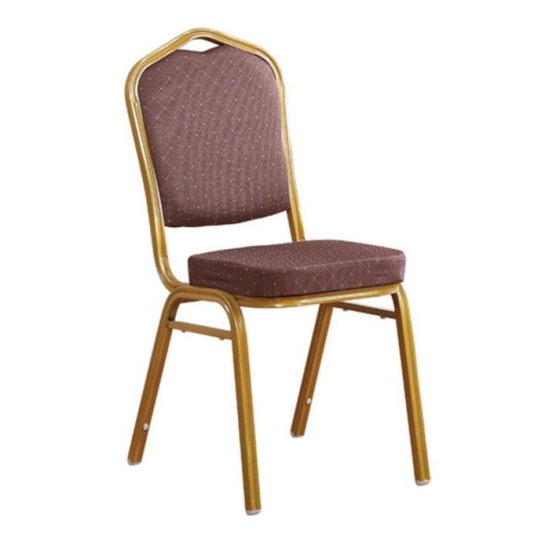 """Καρέκλα """"HILTON"""" μεταλλική-υφασμάτινη σε καφέ χρώμα 45x62x94"""