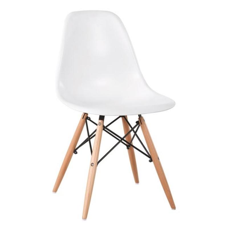 """Καρέκλα """"ART Wood"""" ξύλινη-ρρ σε λευκό χρώμα 46x52x82"""