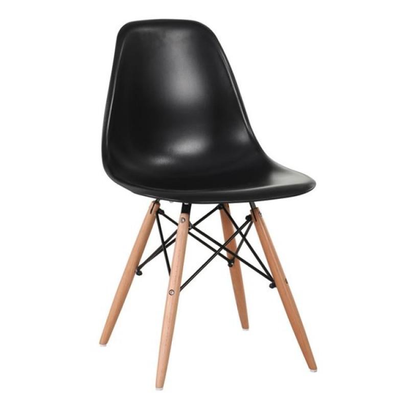 """Καρέκλα """"ART Wood"""" ξύλινη-ρρ σε μαύρο χρώμα 46x52x82"""