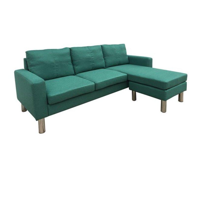 """Καναπές αναστρέψιμος """"REVERSE"""" υφασμάτινος σε πετρόλ χρώμα 197x131x74/86"""