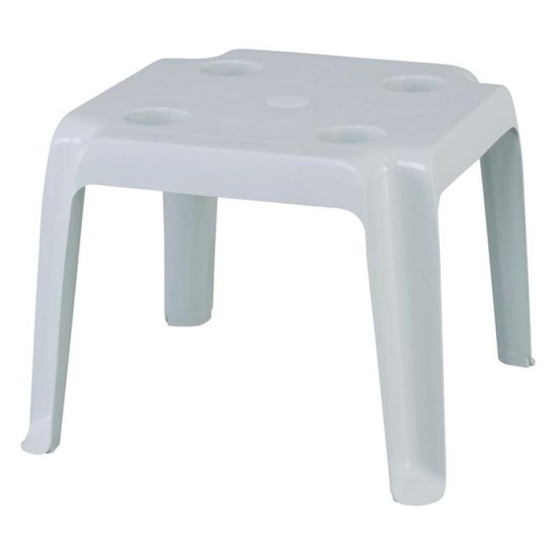 """Τραπεζάκι βοηθητικό """"FREDDO"""" πλαστικό σε λευκό χρώμα 44x44x38"""