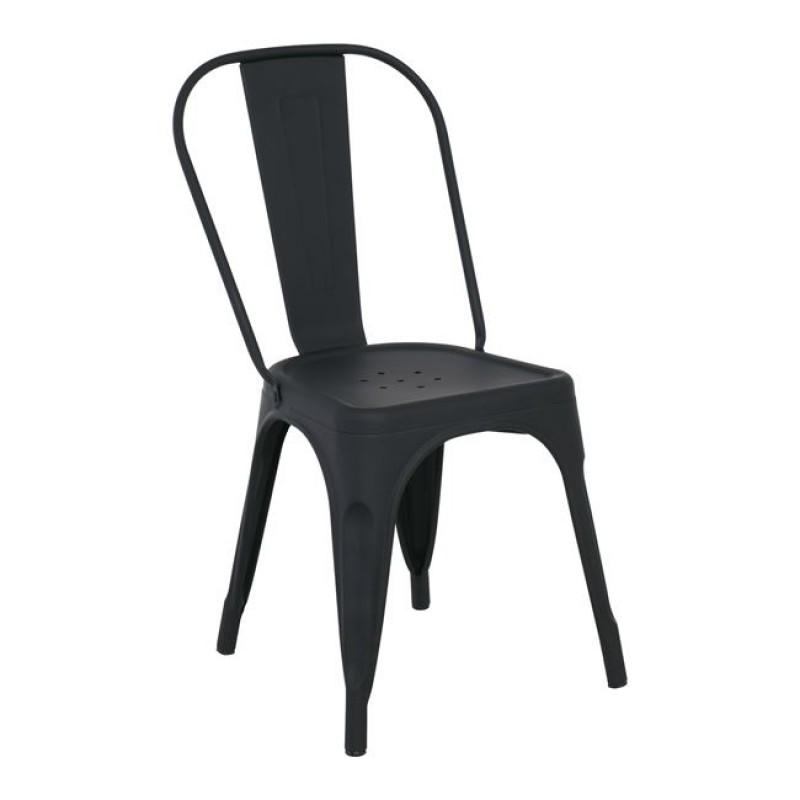 """Καρέκλα """"RELIX"""" μεταλλική σε χρώμα μαύρο 45x49x85"""