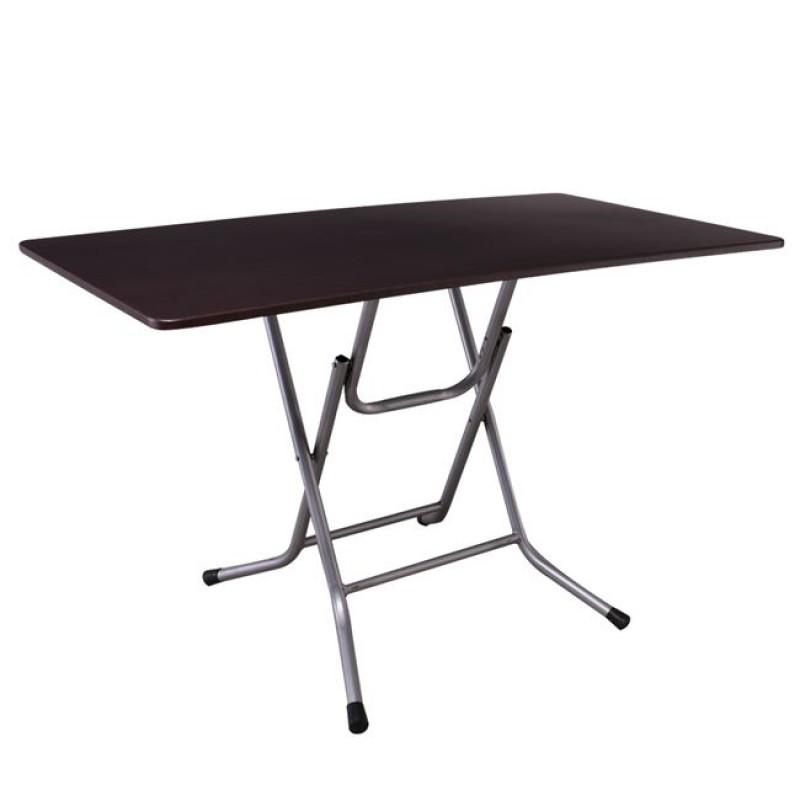 Τραπέζι πτυσσόμενο μεταλλικό σε χρώμα μαύρο 70x120x75