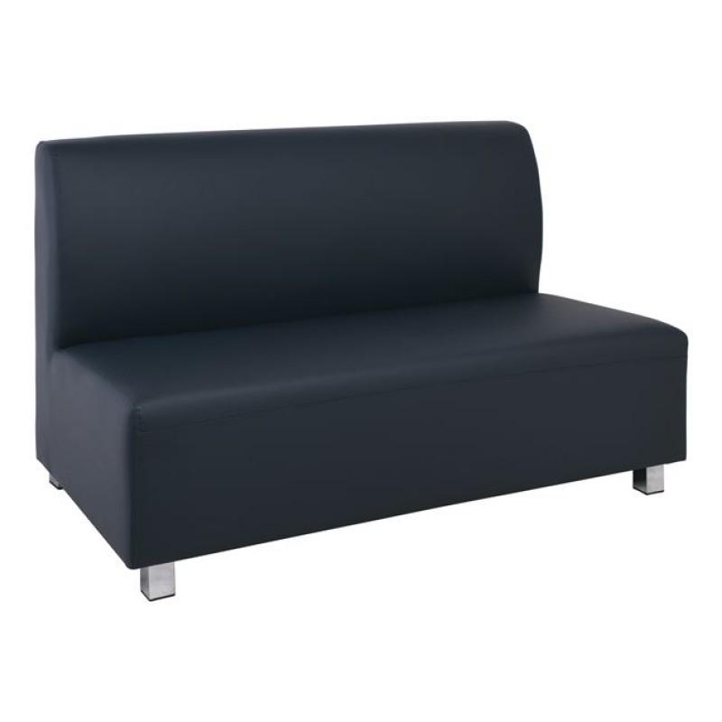 """Καναπές """"BANDY"""" διθέσιος από PU σε χρώμα γκρι 130x71x88"""