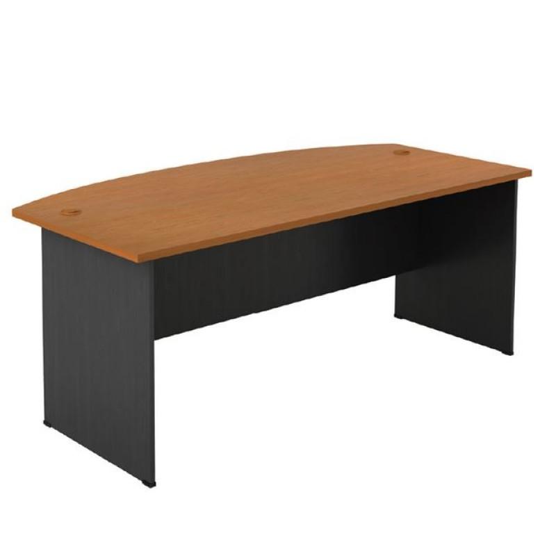 Γραφείο επαγγελματικό σε χρώμα σκούρο γκρι-κερασί 180x90x74