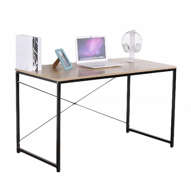 """Γραφείο εργασίας """"STUDENT"""" σε χρώμα οξιά και μαύρο μεταλλικό σκελετό 120x60x70"""