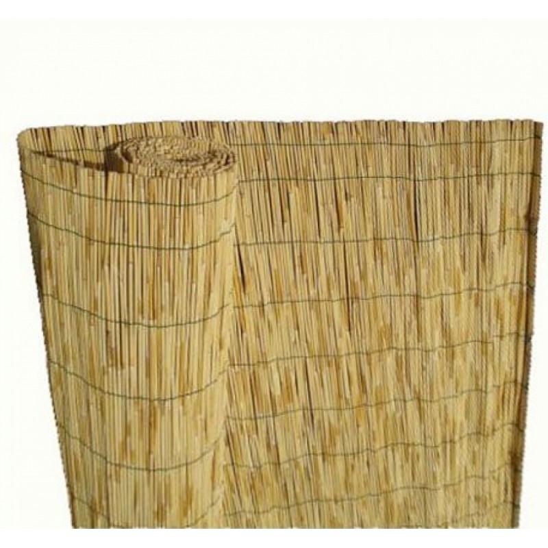 Καλαμωτή από βέργες καλαμιού σε φυσικό χρώμα 150x300