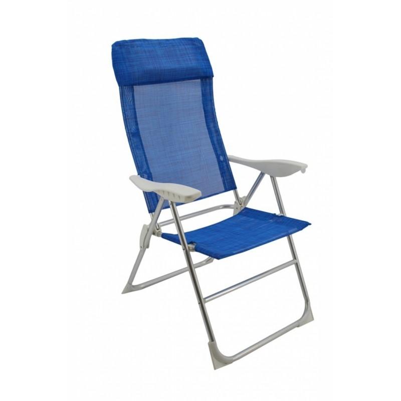 Καρέκλα μεταλλική-textilene σε μπλε χρώμα 61x62x113