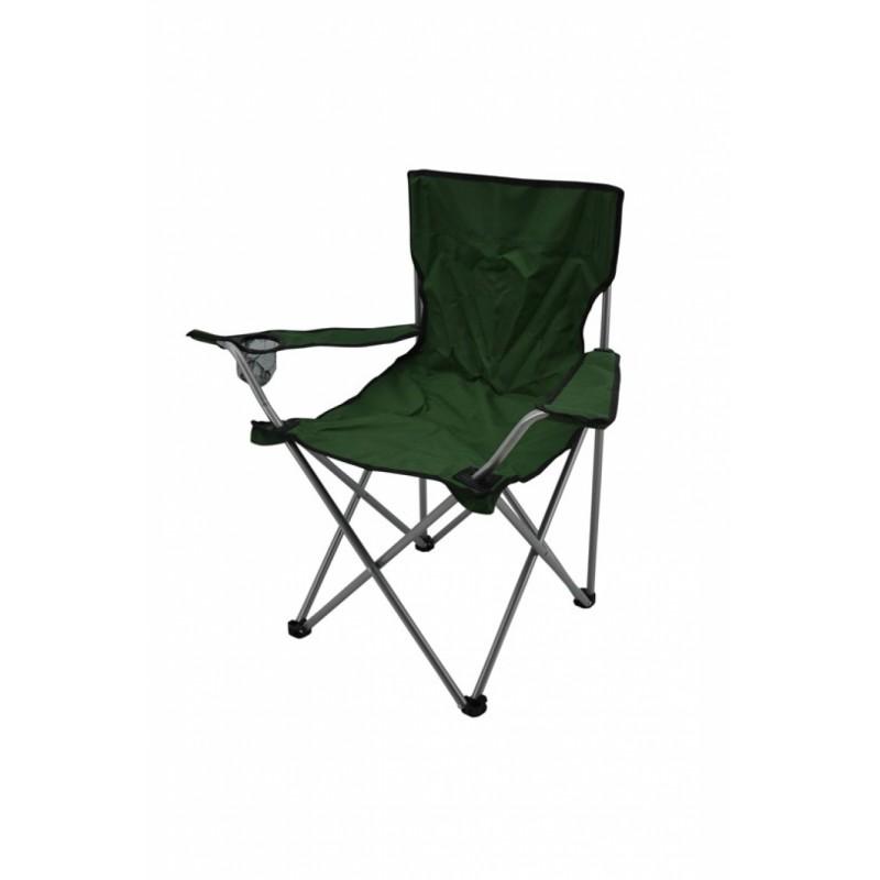 Καρέκλα camping μεταλλική σε πράσινο χρώμα 82x50x80