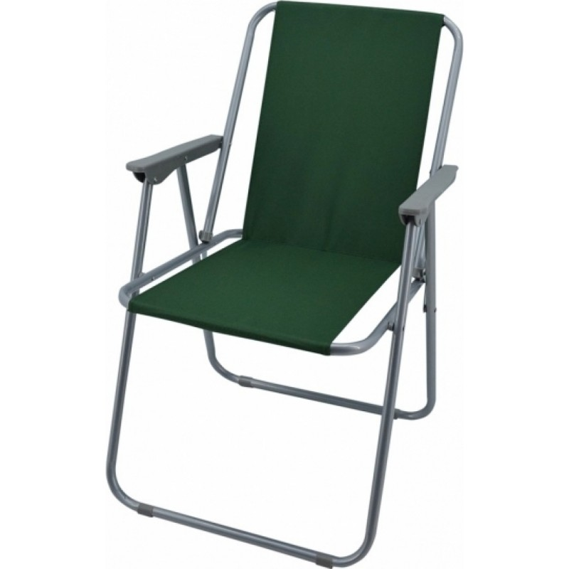 Καρέκλα παραλία μεταλλική σε γκρι-πράσινο χρώμα 53x58x75